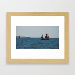 Sailing times Framed Art Print