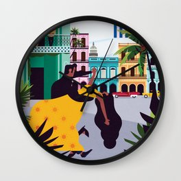 Havana ft. Salsa Dancers Wall Clock