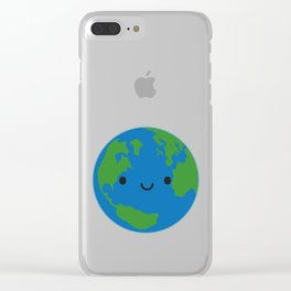 Planet Earth Clear iPhone Case
