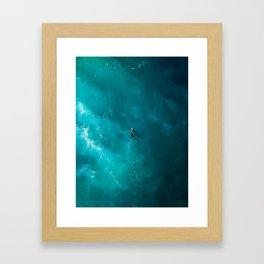 Surfing Alone Framed Art Print