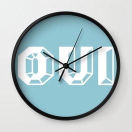 OUI! BLUE Wall Clock