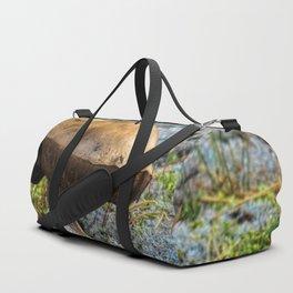 mushroom in swedish forest Duffle Bag