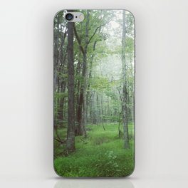 Foggy Forest Landscape Photo iPhone Skin
