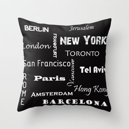 Cites Throw Pillow