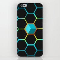 technology iPhone & iPod Skins featuring Technology hive by JW's art