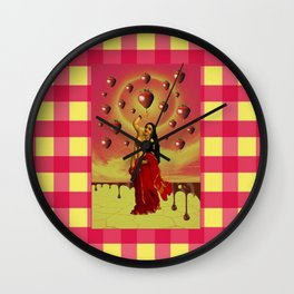 Chocolate Covered Strawberry Fields Forever Wall Clock