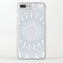 Cool Gray Mandala Simplistic Bold Minimal Minimalistic Clear iPhone Case