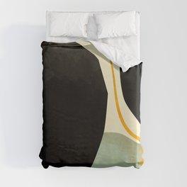 shapes organic mid century modern Duvet Cover