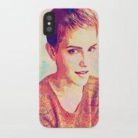 emma watson iPhone & iPod Cases featuring Watson by Ruy Arte Hewitt