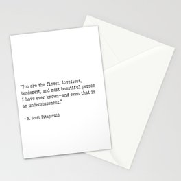 F. Scott Fitzgerald quote Stationery Cards