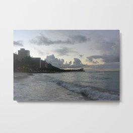 Oahu sun rising Metal Print