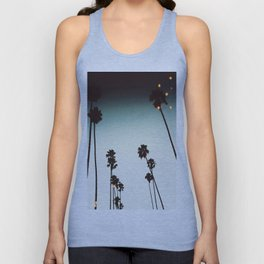 Bokeh Palms Unisex Tank Top