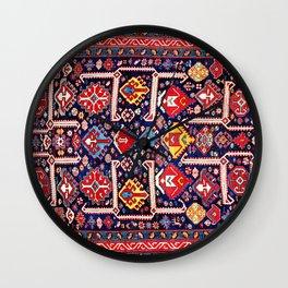 Kuba Afshan East Caucasus Antique Rug Wall Clock
