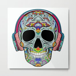 Skull with ornaments Metal Print