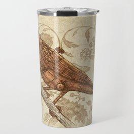 Steampunk Songbird  Travel Mug