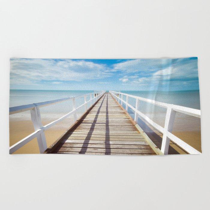 Pier sky 4 Beach Towel