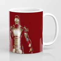 iron man Mugs featuring Iron Man  by George Hatzis