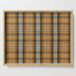 The Great Class of 1986 Jacket Plaid Serving Tray
