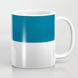 Blue over White Coffee Mug
