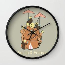 Embrace. Wall Clock