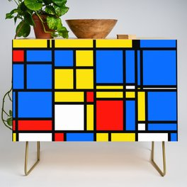 Mondrian Style Credenza