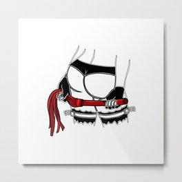 mistress dominatrix whip stockings thong bdsm Bondage Metal Print