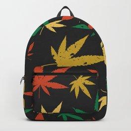 Cannabis Leaf Pattern Backpack