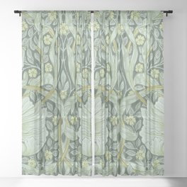 William Morris, Art nouveau pattern, beautiful art work, fabric pattern, belle époque,victorian,flor Sheer Curtain