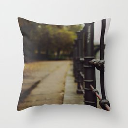 Autumn in the city Throw Pillow