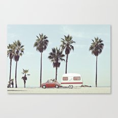 NEVER STOP EXPLORING - CAMPING PALM BEACH Canvas Print