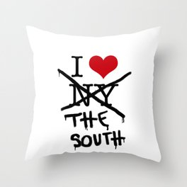 I Love the South Throw Pillow
