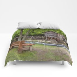 Glade Creek Grist Mill In Summer Comforters