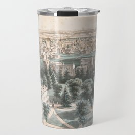Vintage Pictorial Map of Newark NJ (1853) Travel Mug