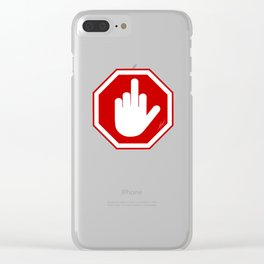 DAMAGED STOP SIGN Clear iPhone Case