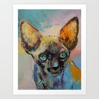 sphynx Art Prints featuring Sphynx by Michael Creese
