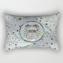Cancer Zodiac Gold Abalone on Constellation Rectangular Pillow