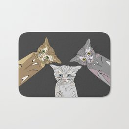 Triple Kitties Bath Mat