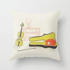 Cat & Violin Throw Pillow