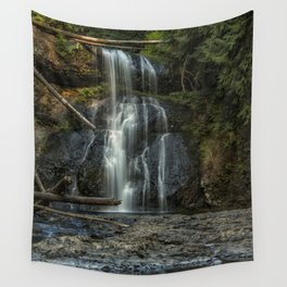 Upper North Falls, Late Summer, Vertical Wall Tapestry