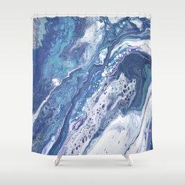 SEAFOAM POUR Shower Curtain