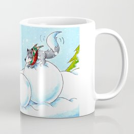Snowman Building Coffee Mug