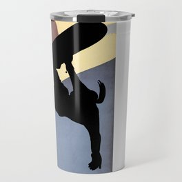 Snowboarding Betty Half Pipe Travel Mug