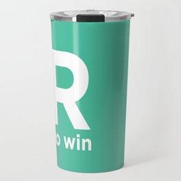 R to win Travel Mug