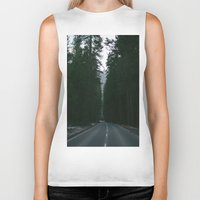 yosemite Biker Tanks featuring Yosemite  by Andre Elliott