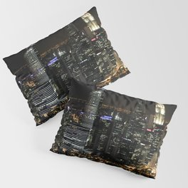 city at night lights skyline Pillow Sham