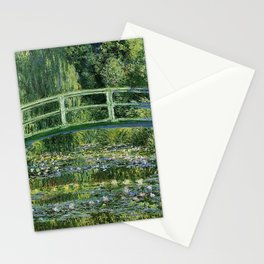 WATER LILLIES AND JAPANESE BRIDGE - CLAUDE MONET Stationery Cards