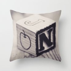 Toy cube... Monochrom Throw Pillow