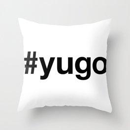 YUGO Hashtag Throw Pillow