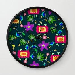textile pattern Wall Clock