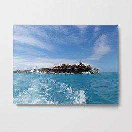tropical island- British virgin islands- travel photography Metal Print